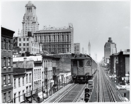The Third Avenue El was part of New York life for decades.