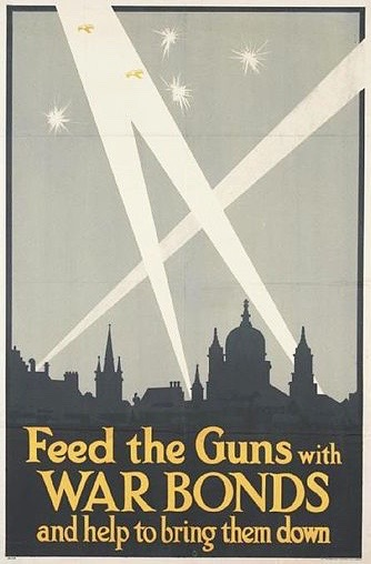 Great War bonds poster via Imperial War Museum