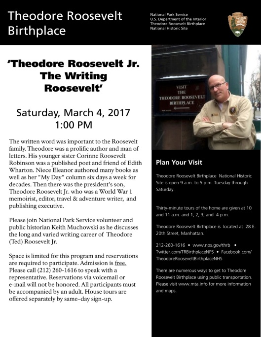 TRB program on Ted Roosevelt March 2017